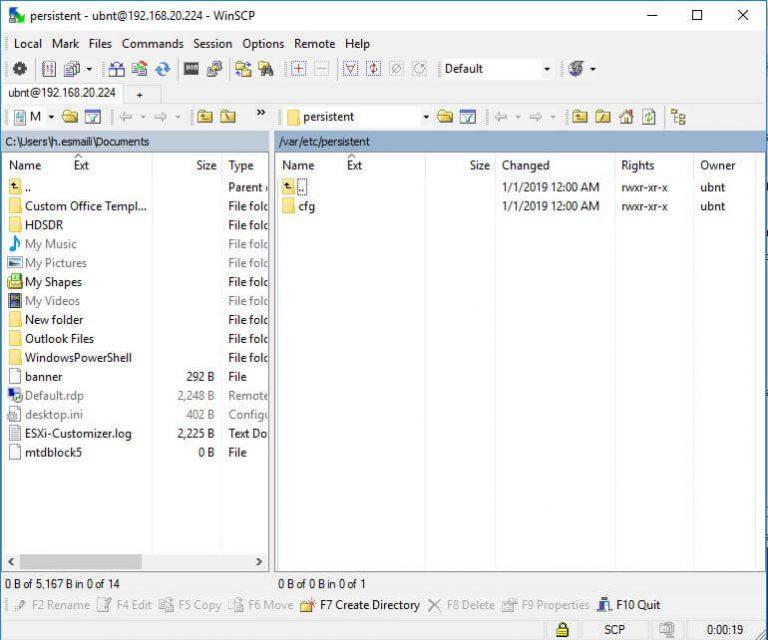 WinSCP UniFi File Transfer