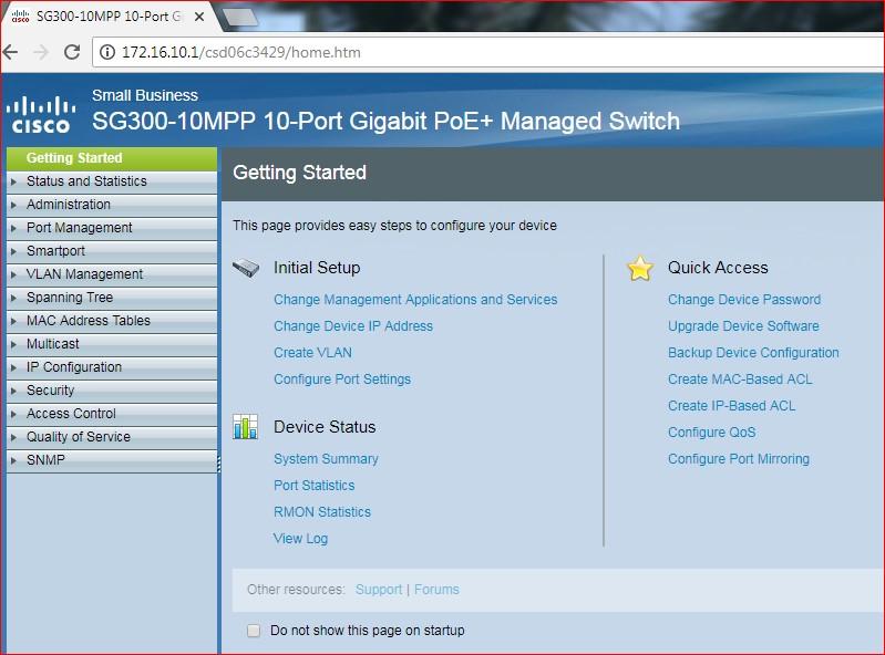 Cisco 300 Admin Dashboard