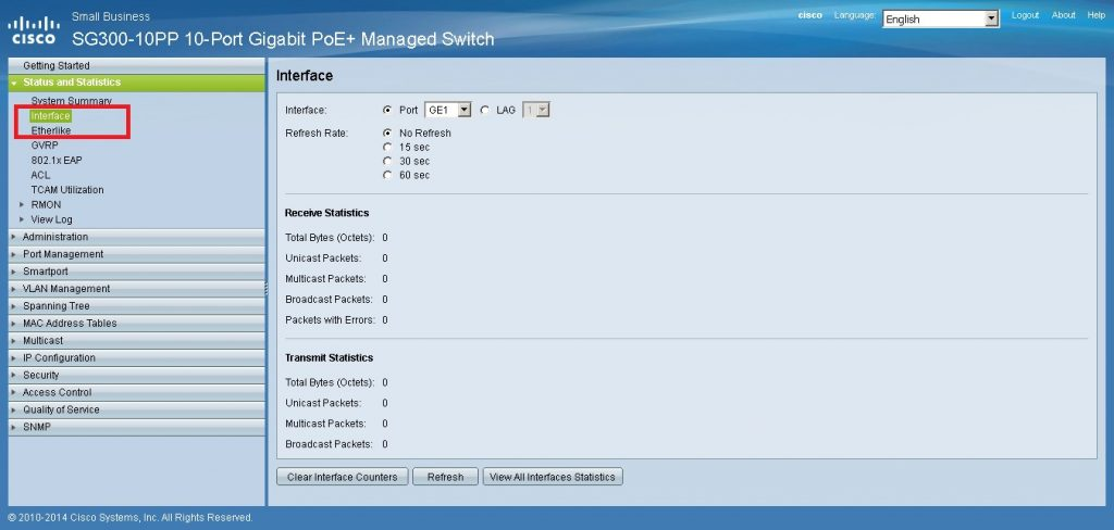 Cisco Small Business Interface
