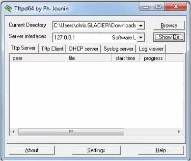 Cisco firmware upgrade RFTP Server