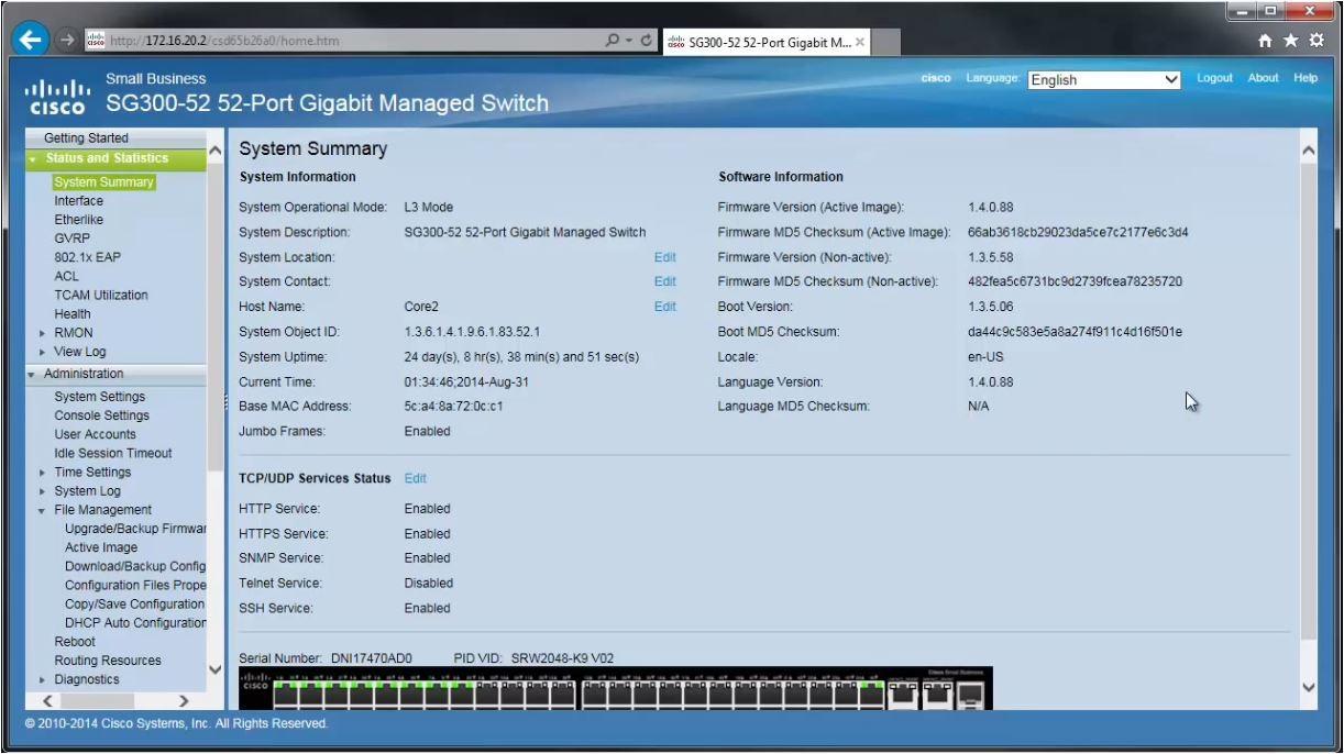 Cisco Small Business System Summary