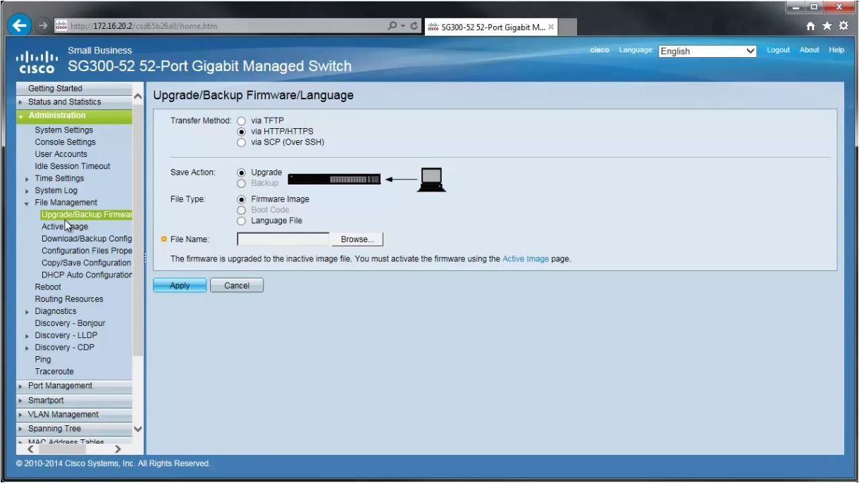 Cisco Small Business Firmware Upgrade