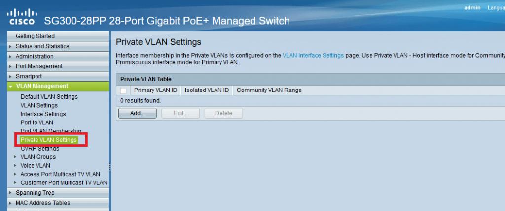 تنظیمات Private VLAN در سوئیچ های سیسکو Small Business
