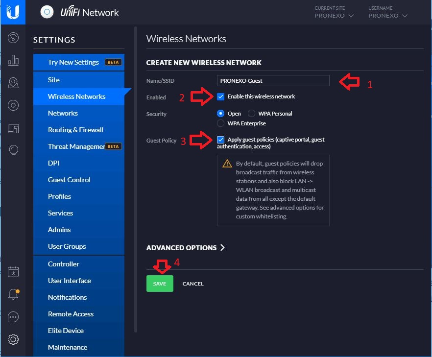 شبکه وایرلس UniFi