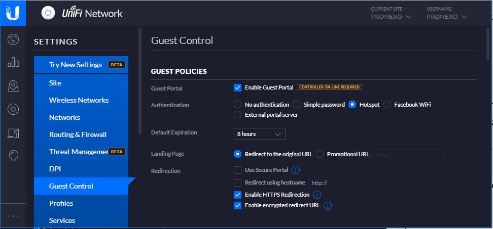 UniFi Guest Control