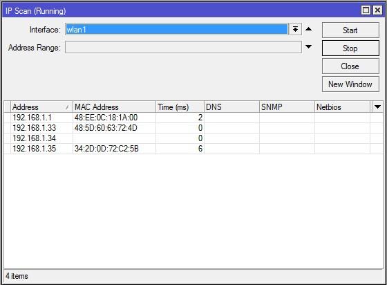 Mikrotik IP Scan