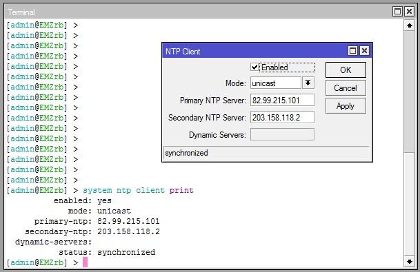 Mikrotik NTP