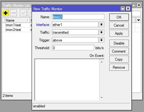 ایجاد Traffic Monitor جدید در روتربرد میکروتیک